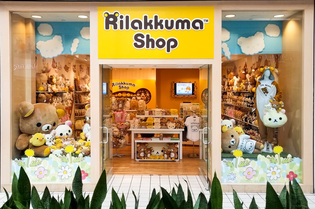Front view of Rilakkuma Pop-up Shop in Florida.